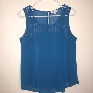 Blue Caged Tank Top